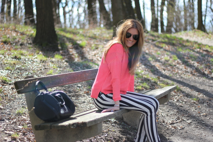 ootd: stripes – with a touch of pink