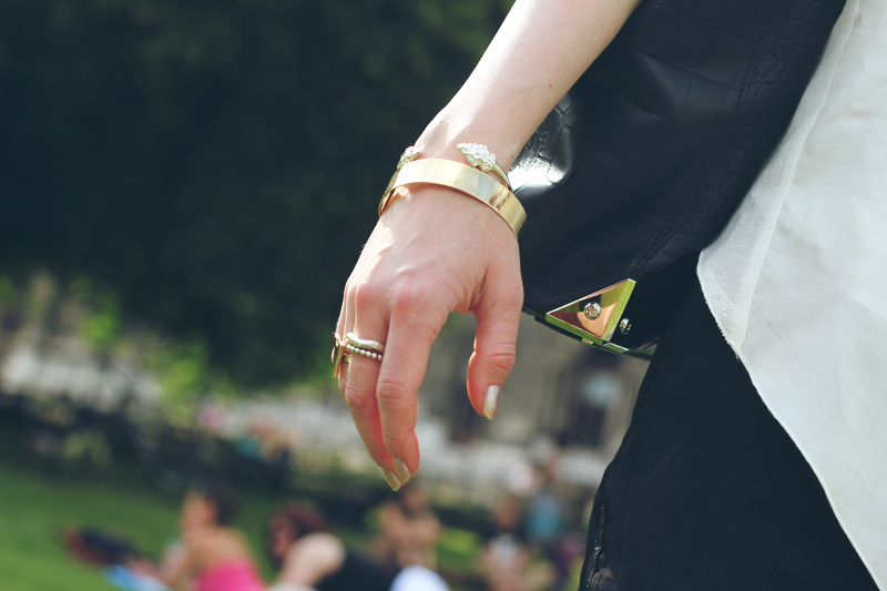ootd: silver and gold details