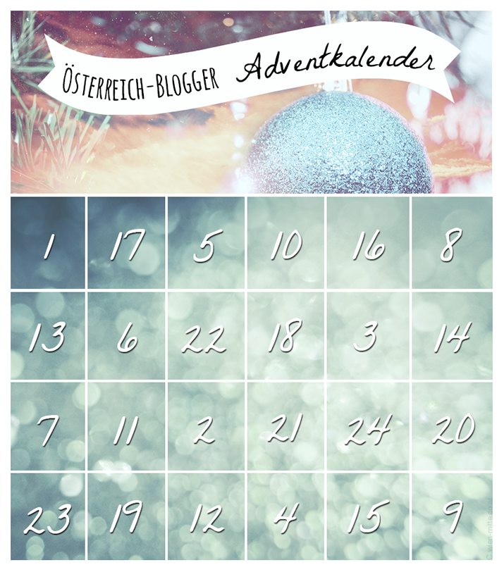 adventcalendar austrian blogger
