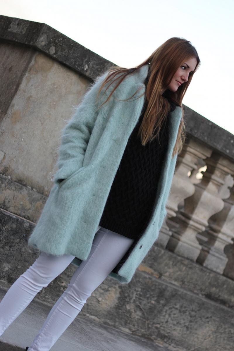 ootd pastel coat