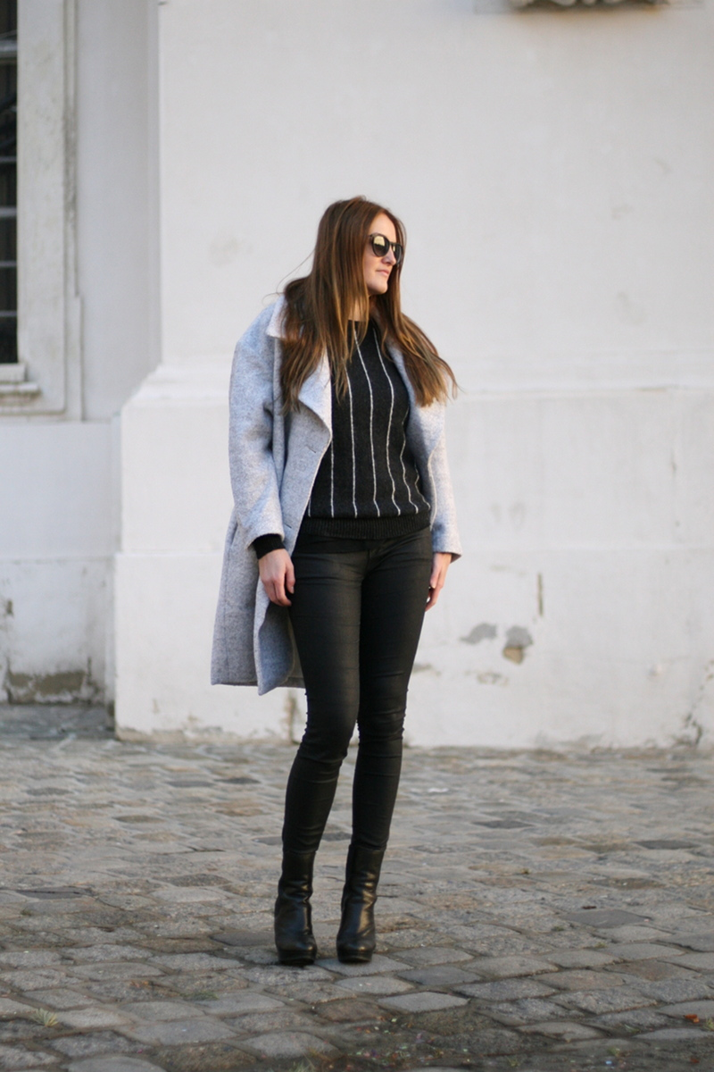 ootd: grey coat