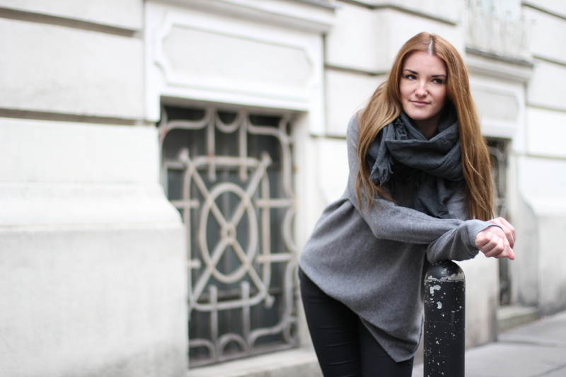 ootd: grey cozy winterlook