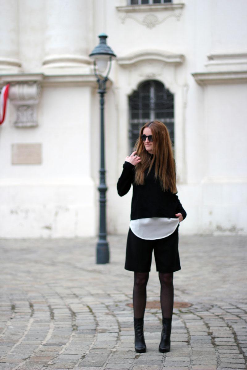 ootd: black culottes