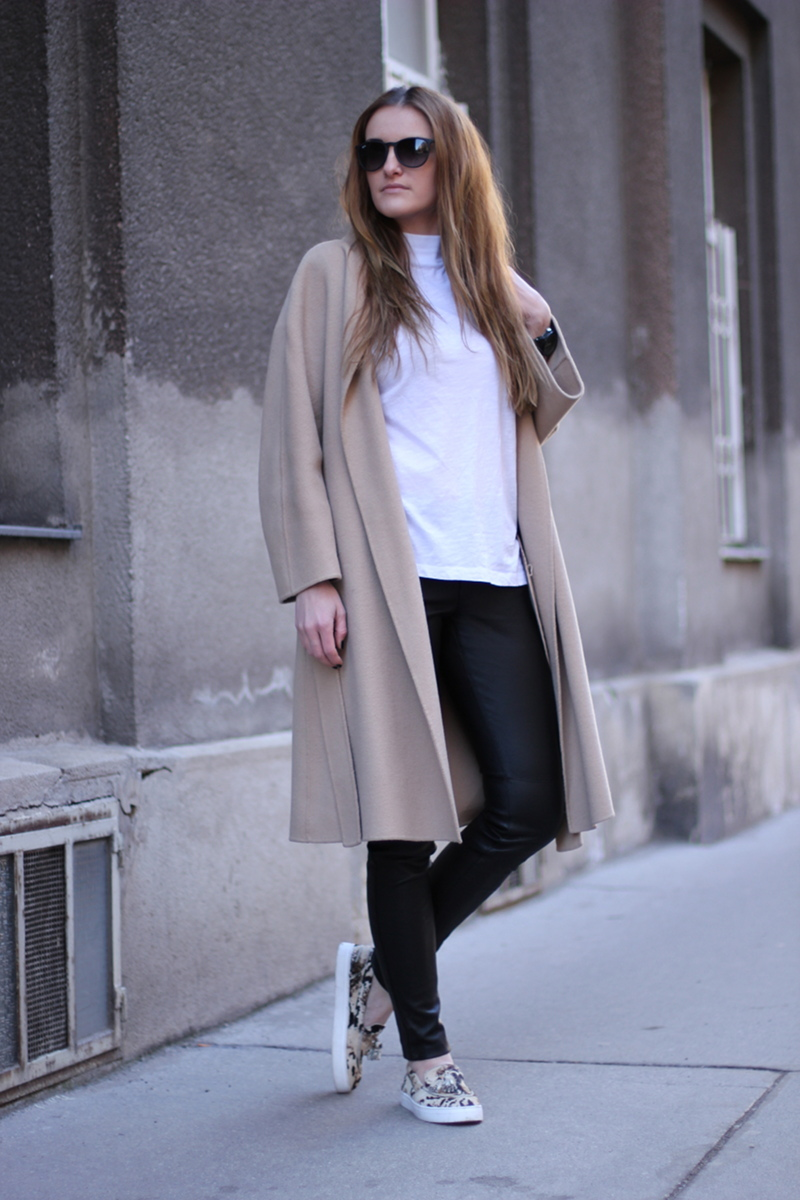 ootd: black leather pants