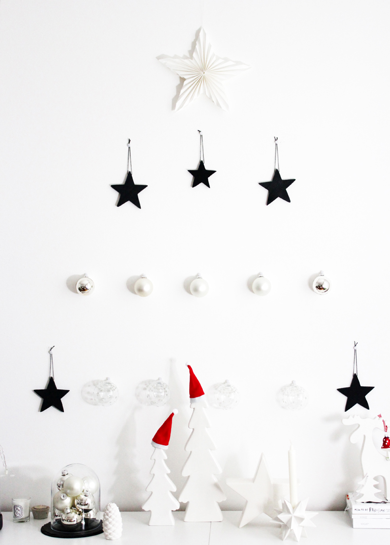 interior: diy minimalistic christmas tree