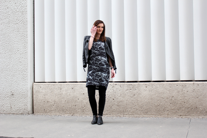 ootd: marble dress