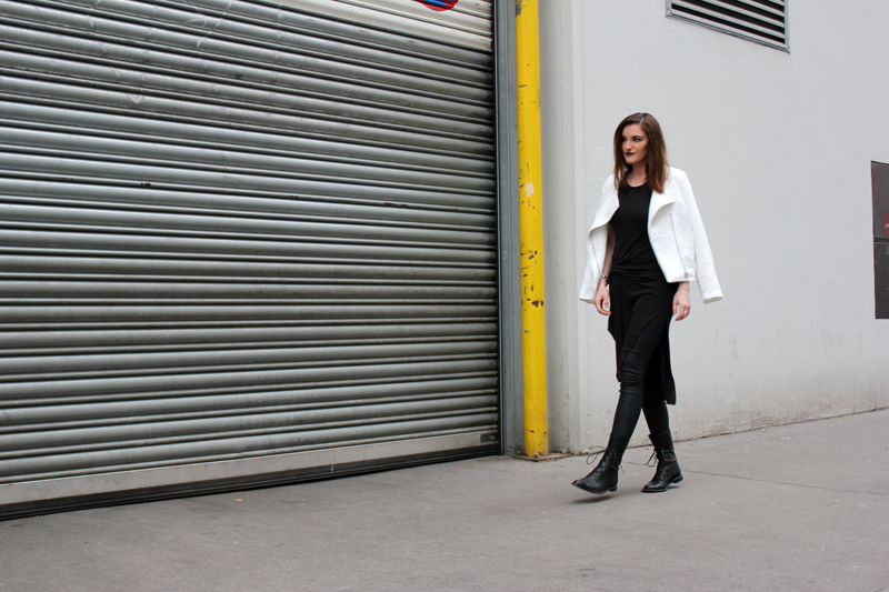 ootd: white bomber jacket