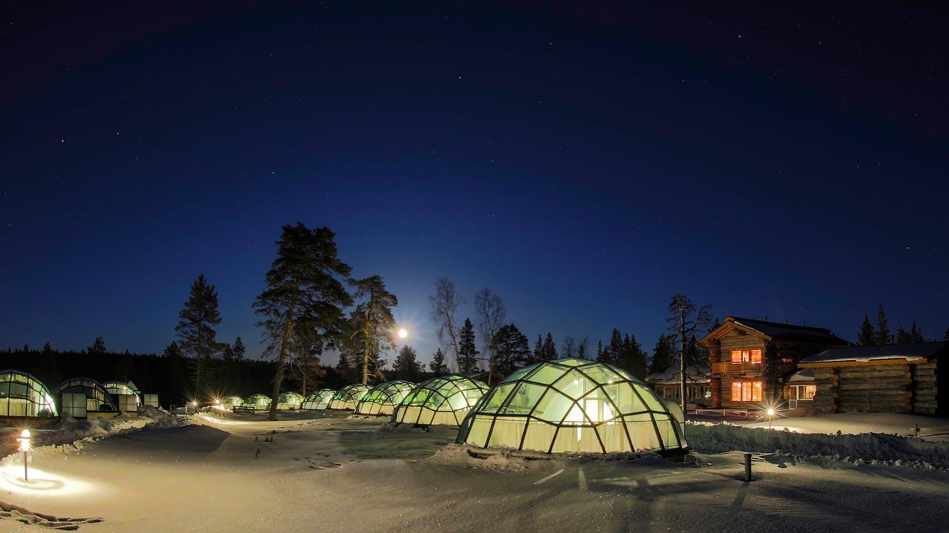 Glasiglus Kakslauttanen Resort Lapland Finnland