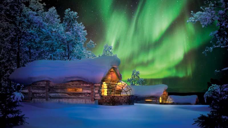 Kakslauttanen Resort Polarlichter