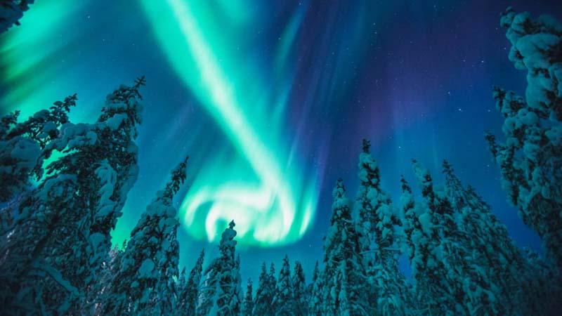Polarlichter Kakslauttanen Resort Lapland