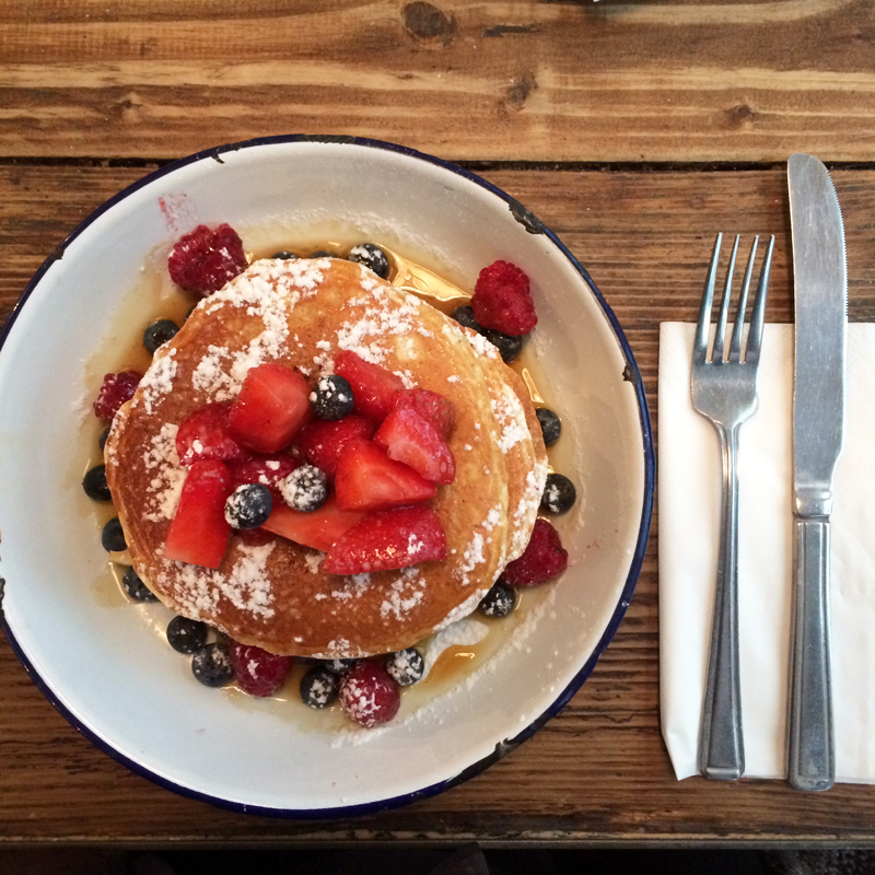 pancakes and berries the breakfast club london