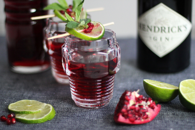 diesel glasses pomegranate drink hendricks gin