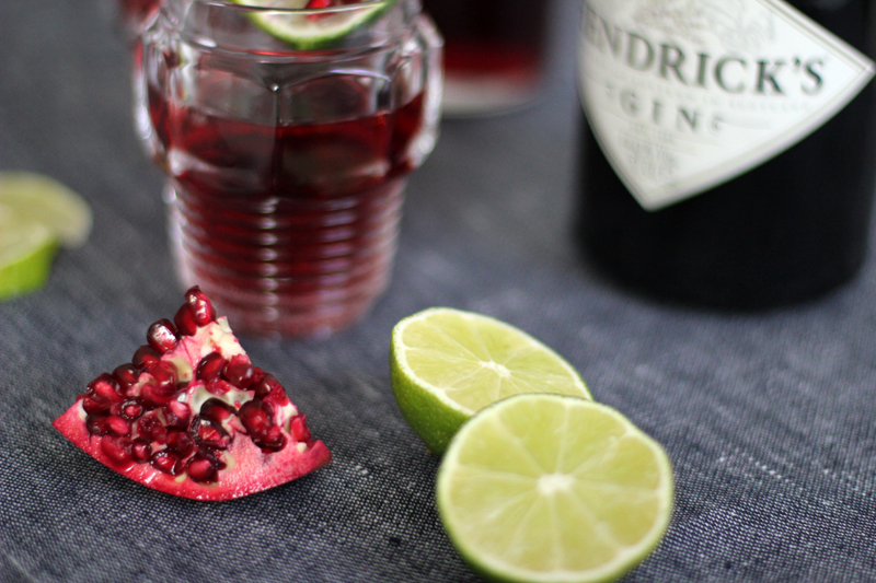 pomegranate cocktail - worry about it later