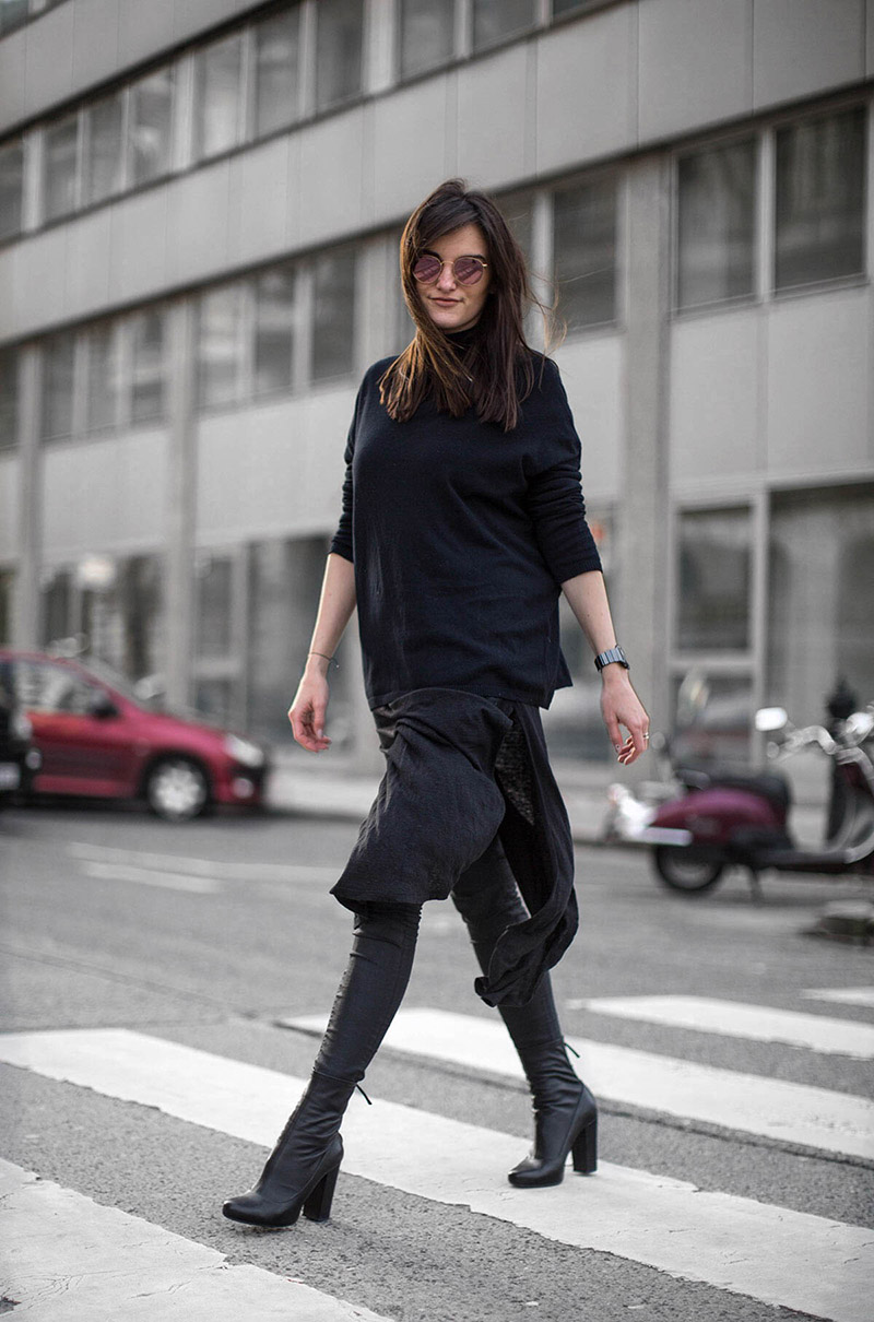streetstyle vienna dress over pants