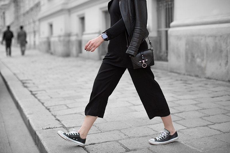 black culottes converse leather streetstyle vienna