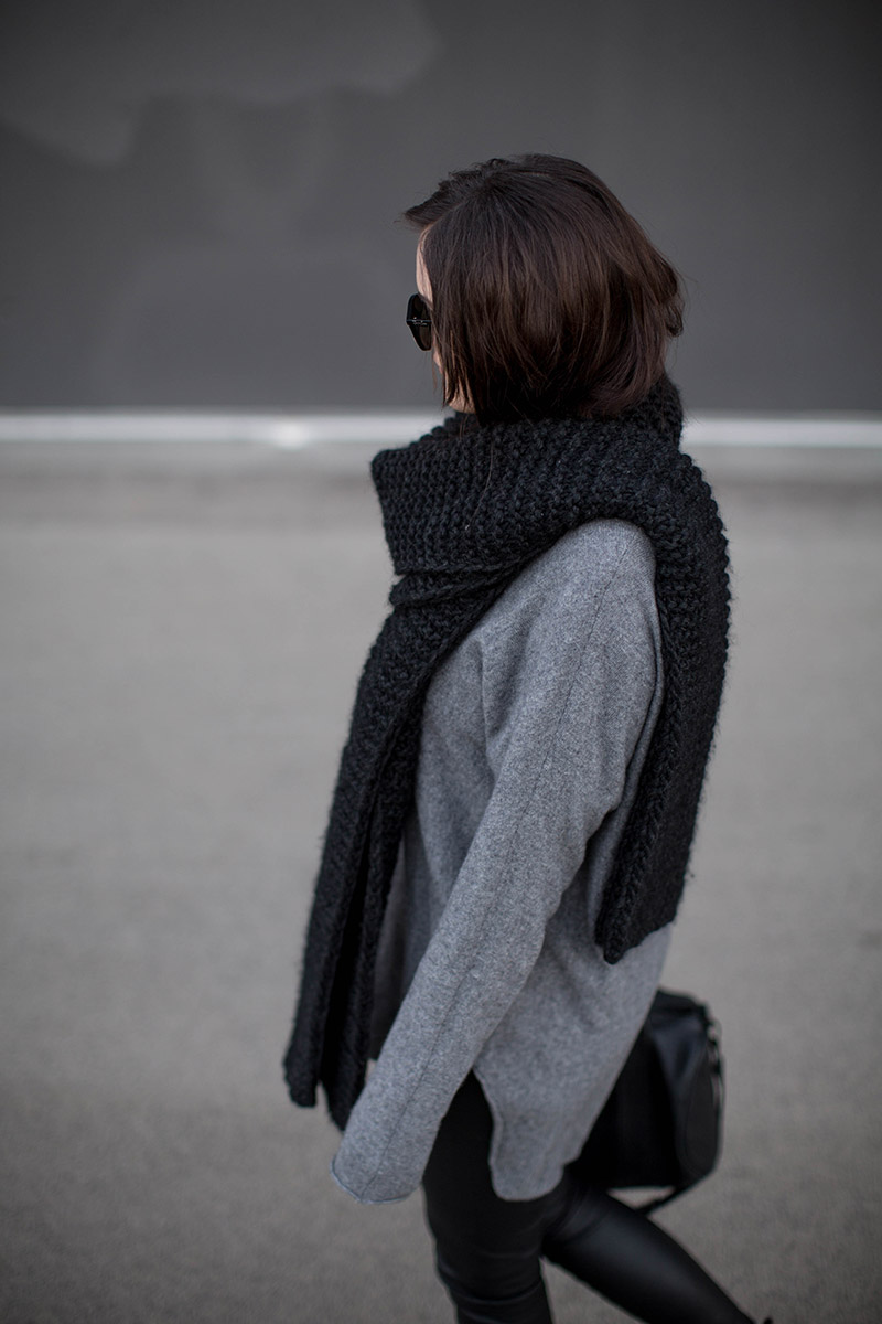 cashmere jumper peter hahn diy knit scarf