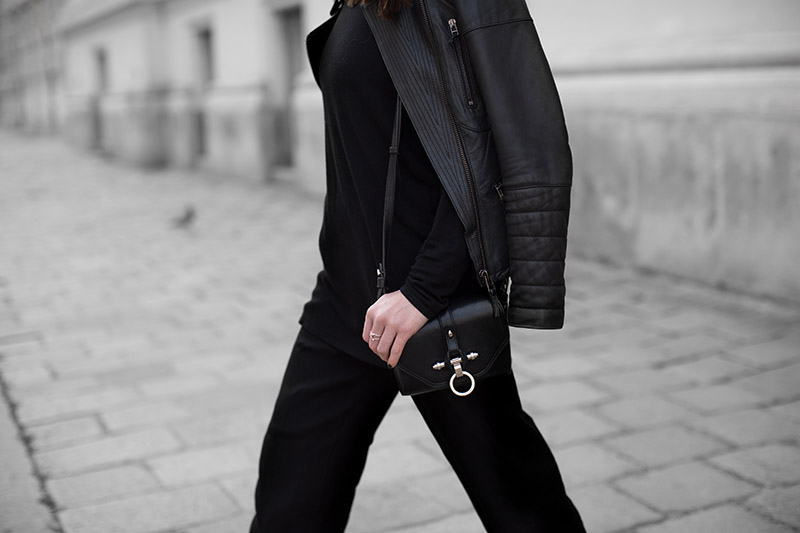 leather jacket zara culottes