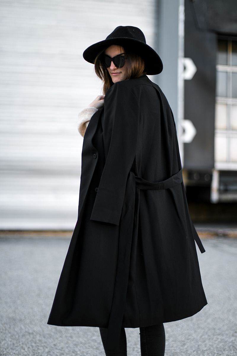 fedora-zara-black-trench-cos-worry-about-it-later