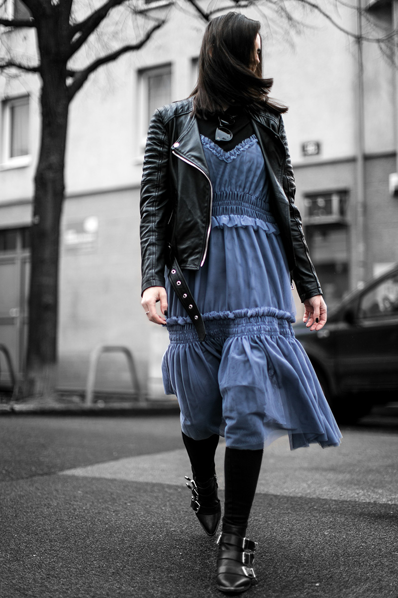 blue dress hm trend worry about it later streetstyle vienna