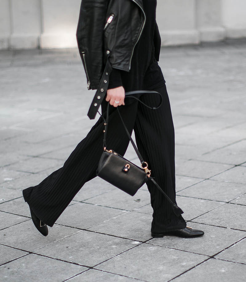 hm trend pleated skirts all black outfit worry about it later fashionblog vienna