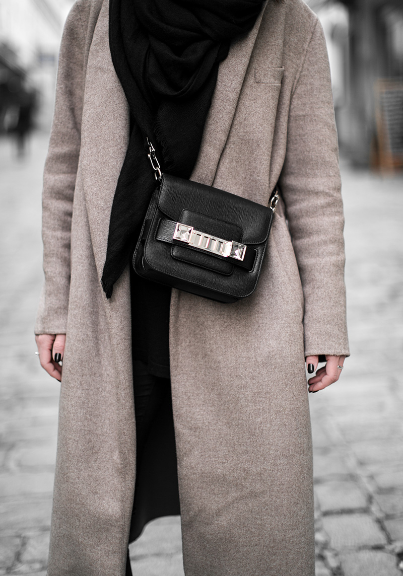 proenza schouler ps brown coat worry about it later
