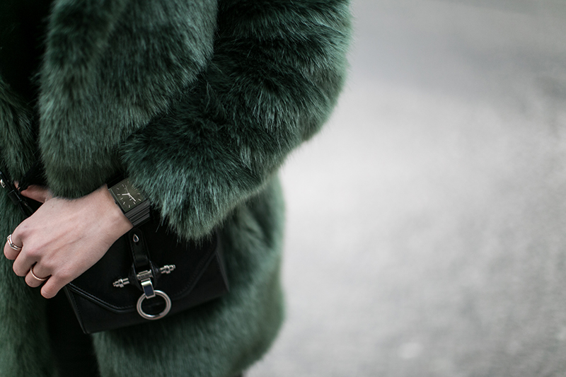 rado ceramica worry about it later streetstyle vienna green fake fur coat