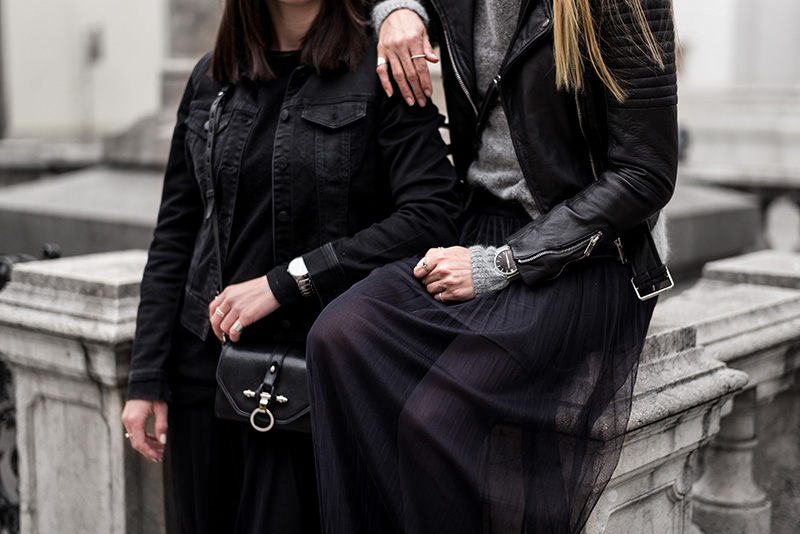 all black outfit streetstyle vienna fashionblog vienna tulle dress bikbok