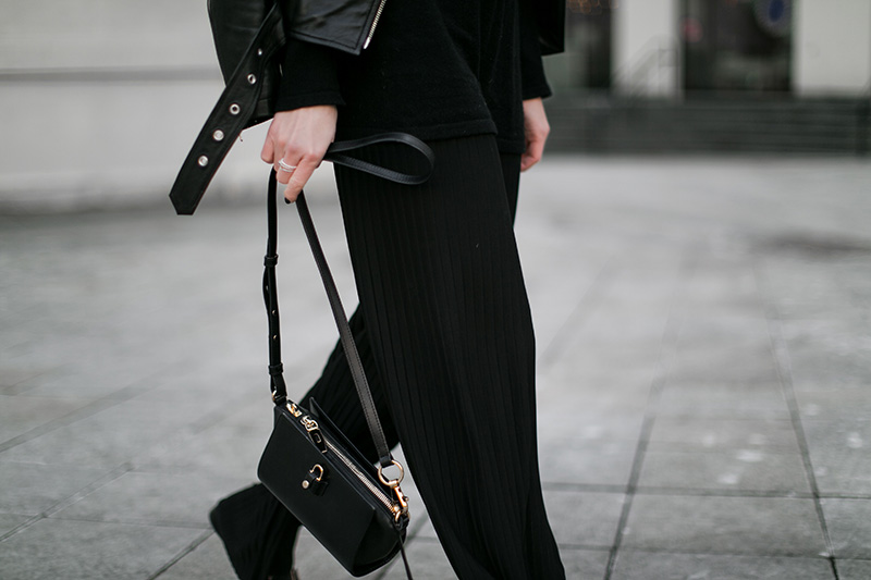 doubts take black pleated pants alexander wang crossbody bag worry about it later