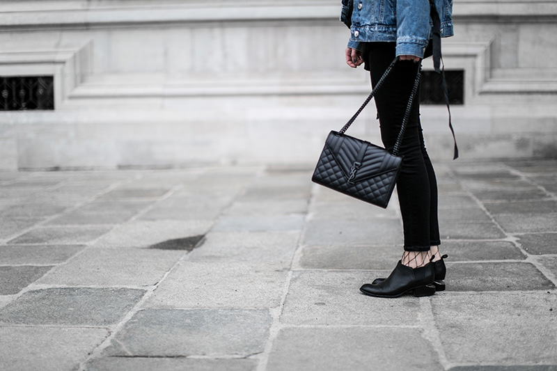 alexander wang kori ankle boots worry about it later saint laurent bag