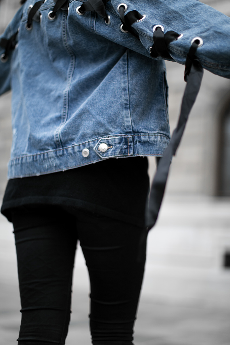 denim jacket worry about it later streetstyle vienna