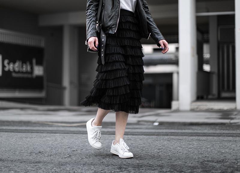 fashionblog oesterreich worry about it later hm trend rueschen rock schwarz