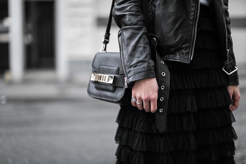 rueschen rock schwarz hm trend worry about it later fashionblog oesterreich