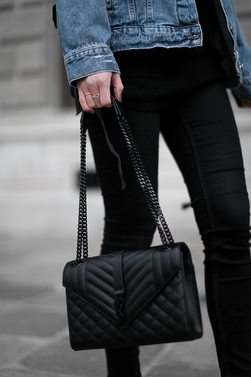 streetstyle vienna black saint laurent bag worry about it later