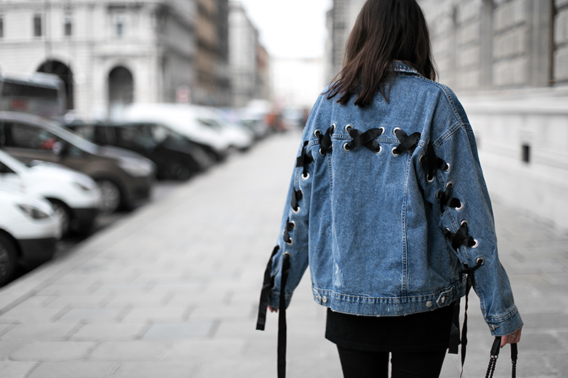 streetstyle vienna denim jacket worry about it later bershka