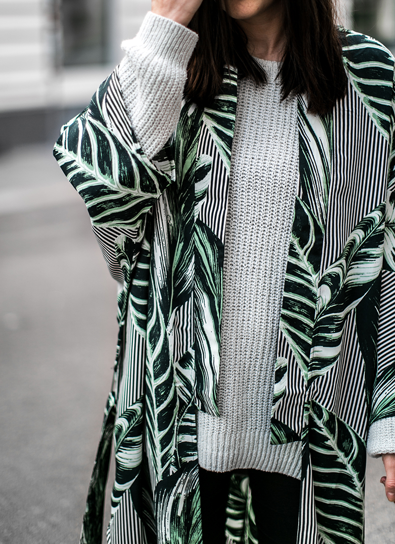 kimono gruen weekday worry about it later fashionblog wien streetstyle