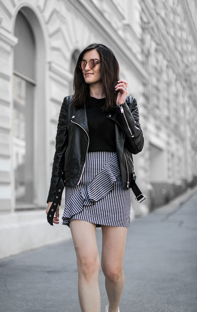 streetstyle wien worry about it later gingham vichy karo minirock