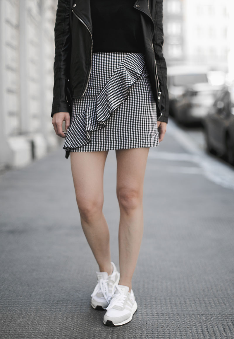 worry about it later vichy karo gingham minirock wien streetstyle