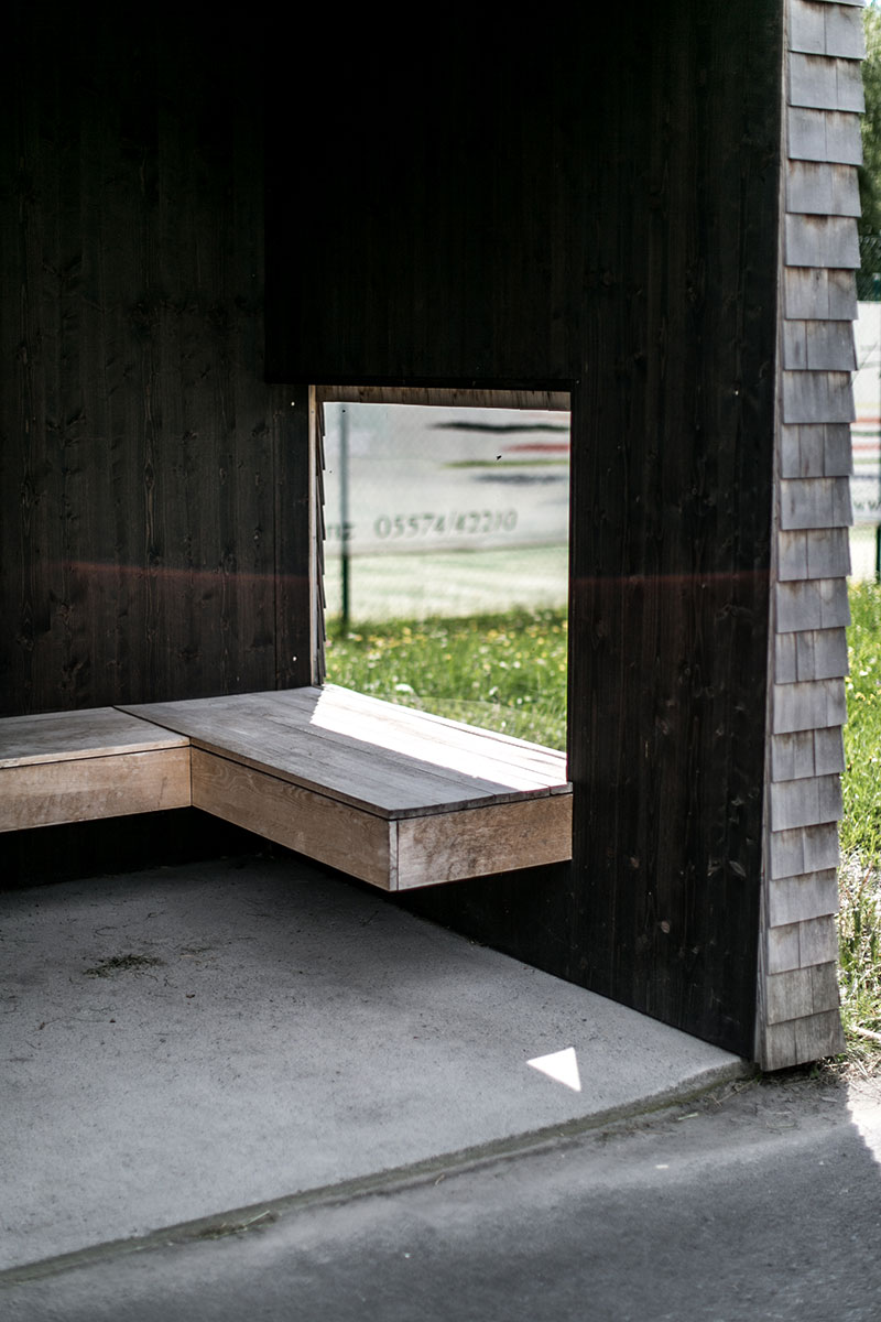 Haltestelle Kressbag Rintala Eggertsson Architects Norwegen Krumbach Bushuesle Vorarlberg wartehüsle