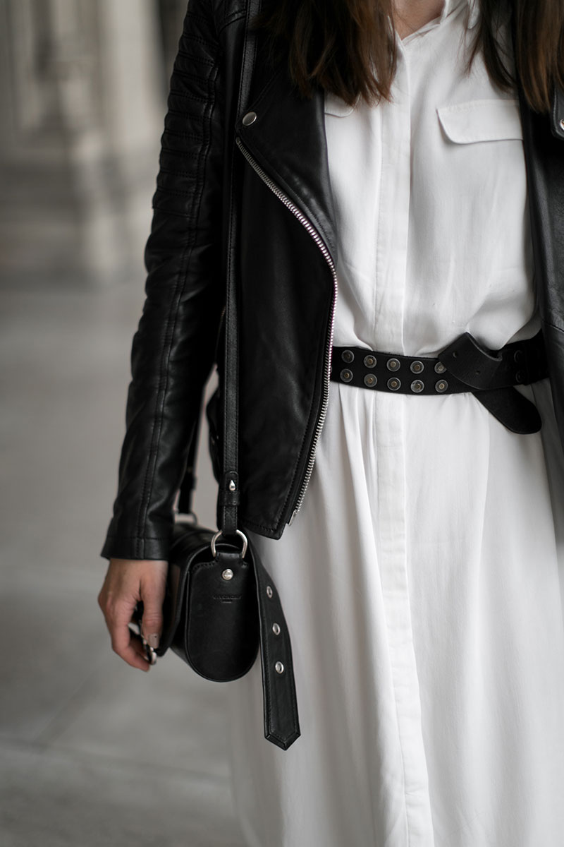 minimalistic outfit black white worry about it later streetstyle vienna