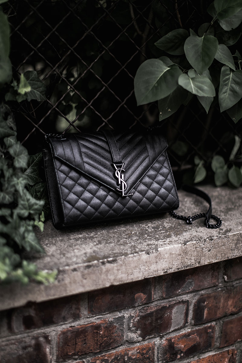 monogramme bag saint laurent ysl all black worry about it later minimal bag