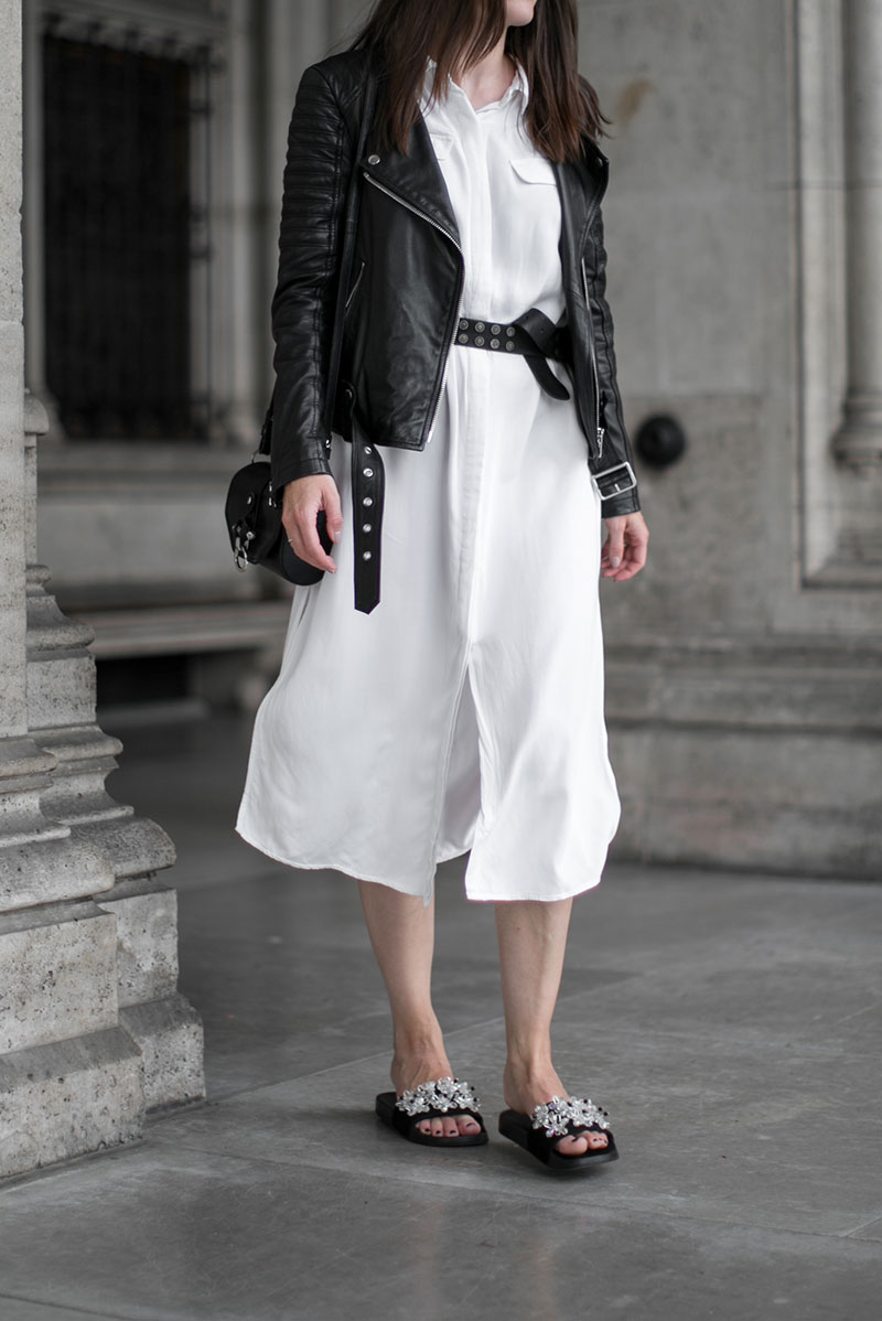 selected femme white blouse dress worry about it later streetstyle vienna minimal outfit