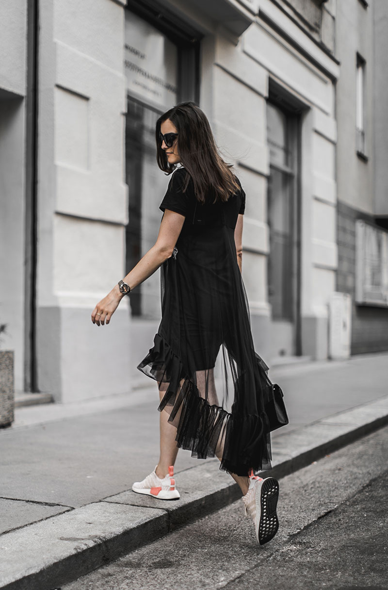 streetstyle vienna sheer black dress worry about it later minimal style