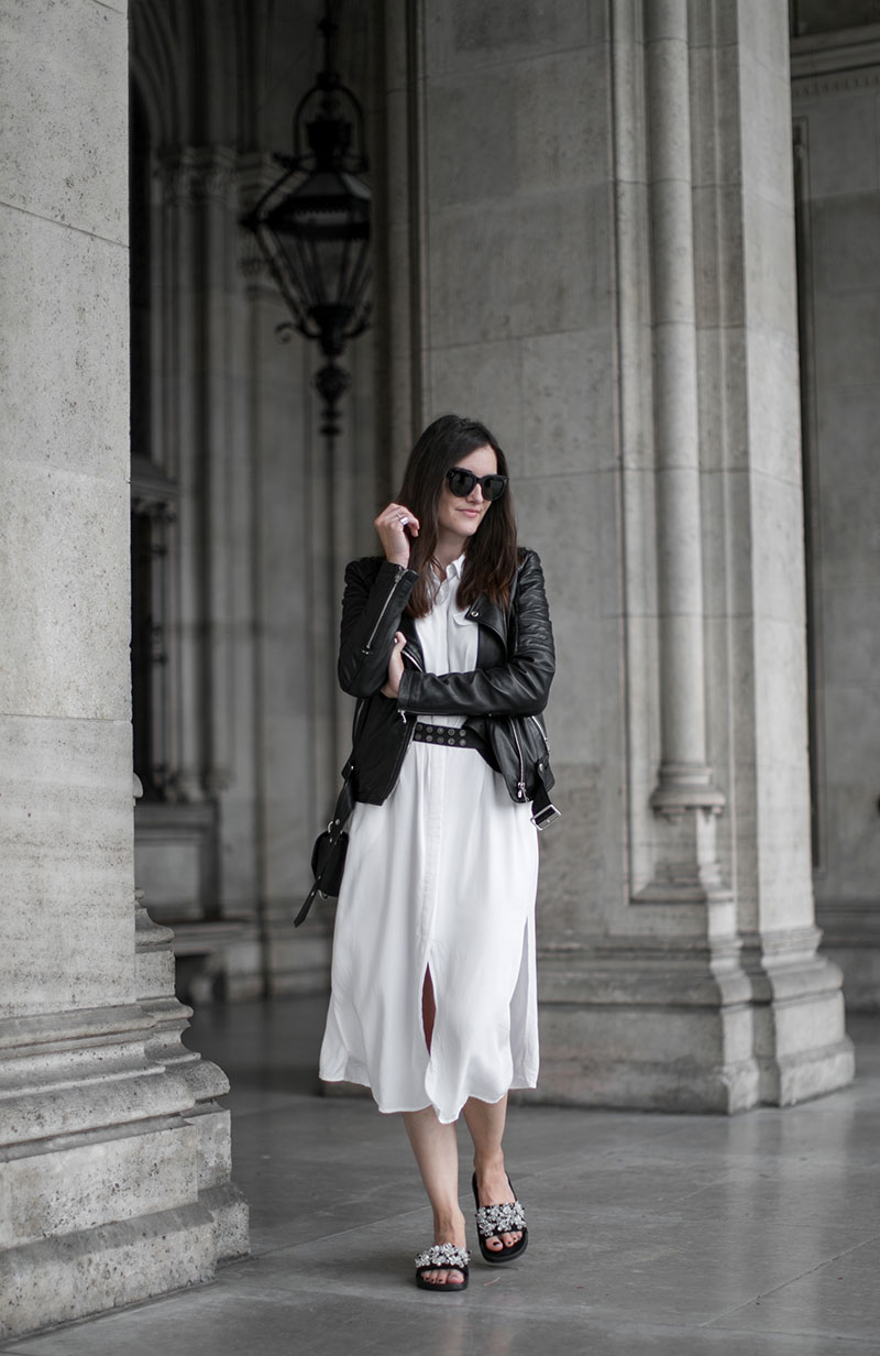 streetstyle vienna worry about it later minimal outfit hm slides