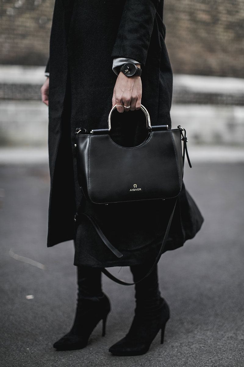 aigner lexi bag shopper s black worry about it later streetstyle vienna
