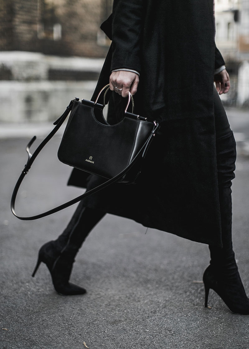 aigner lexi bag worry about it later streetstyle vienna all black minimal outfit