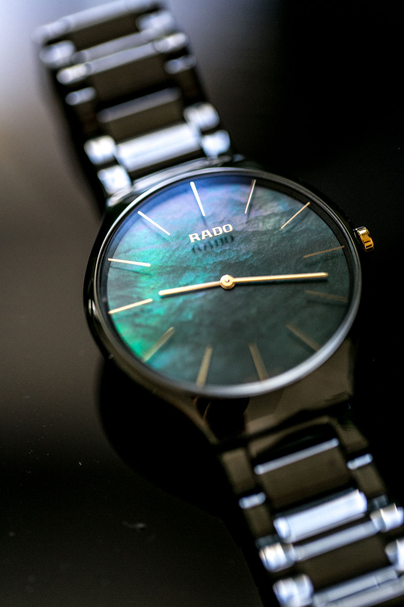 rado schweiz true thinline gruen