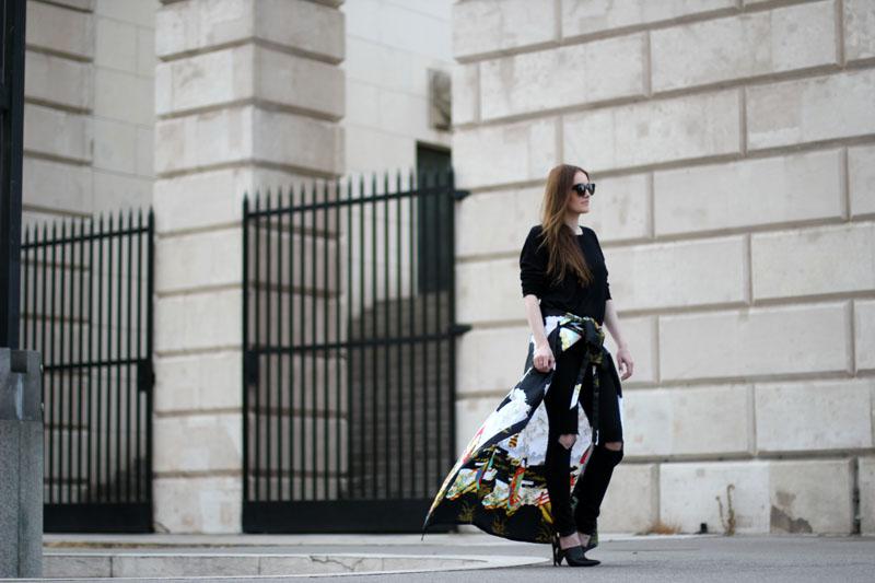 ootd: kimono around hips