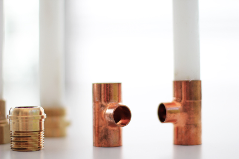 diy hardware candle holders