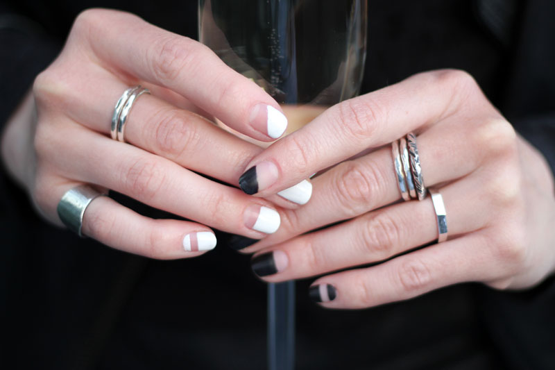 beauty: black and white nailart