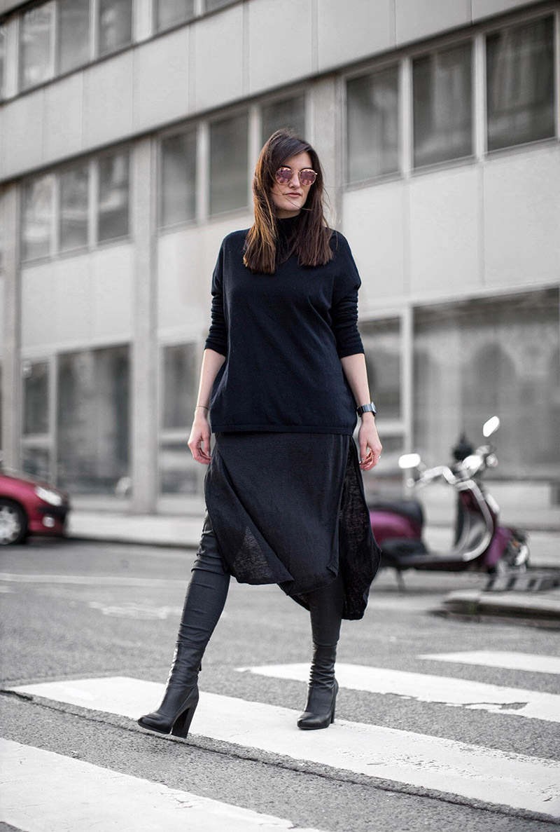 7 ways to wear – dress over pants